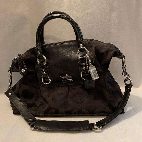 COACH Madison Black Op Art Bag